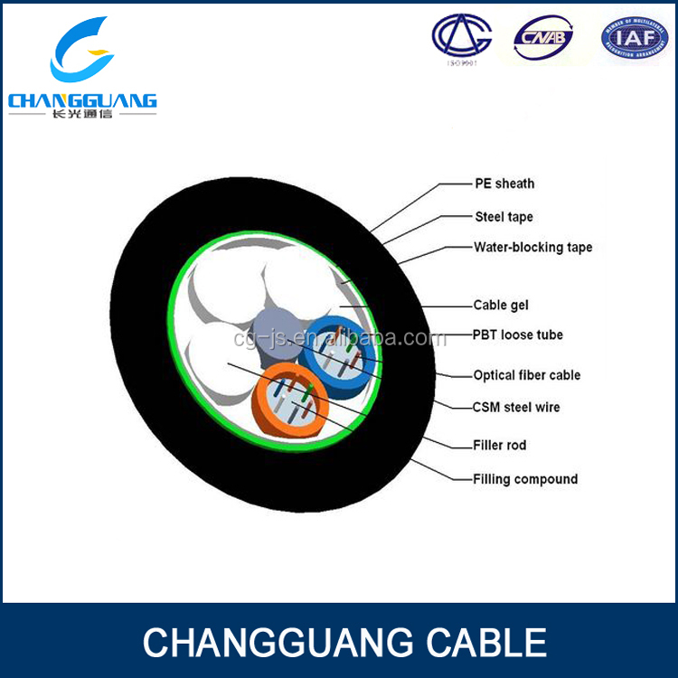 Rodent Proof Stranded Loose Tube Armored Cable outdoor GYTA/S cat6 copper cable price