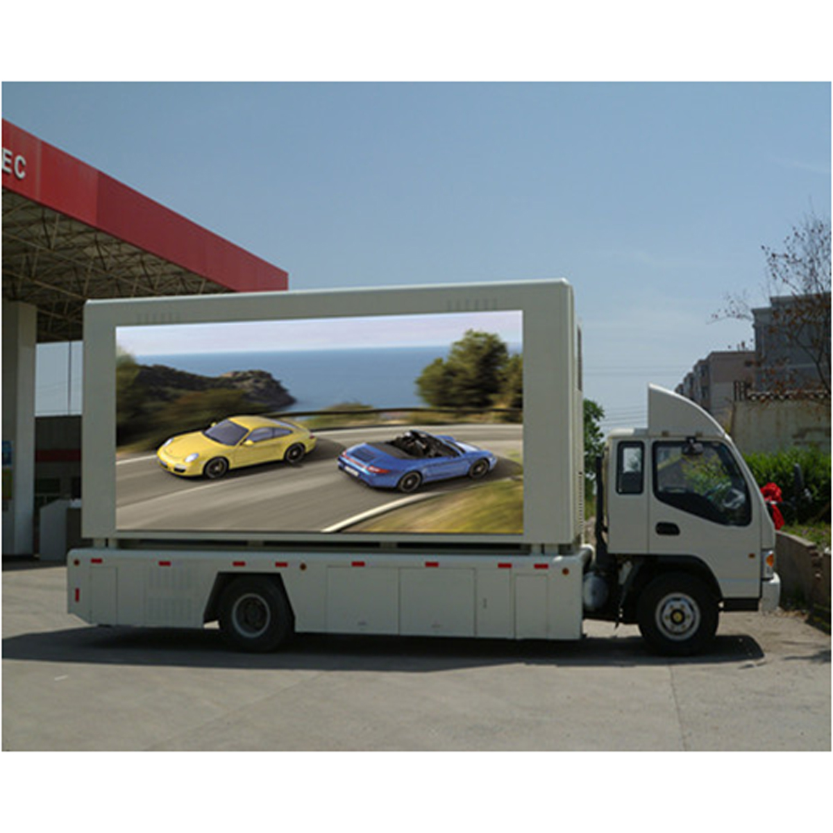 Outdoor p6 p8 p10 Mobile Truck Mounted LED Display Screen Video Advertising Trailer