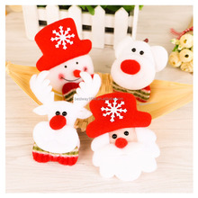 Hot sale Family/Party Gift Led Christmas Decorations Light Snowman Brooches