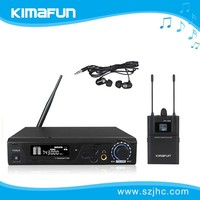 Amazing!!!True Diversity wireless in ear monitor system with microphone KM-100M