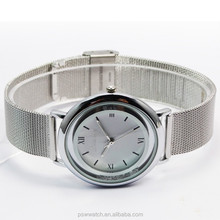 slim lady watch mesh woman branded watches for girls