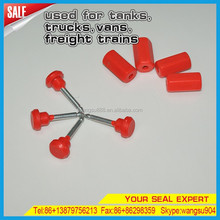 Red Plastic Security Self Locking Container Cable Seal Lock For Trucks