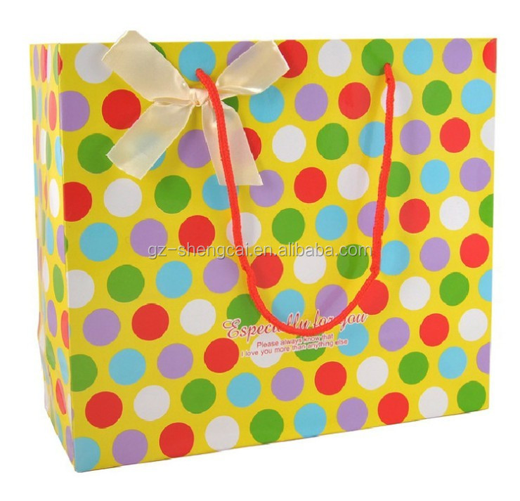 Fashion brown paper bag supplier/paper bag for kids