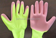 Wholesale gardening firm grip latex coated gloves for kids