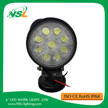 27W Round LED Work driving Light 24 Volt Truck Lights