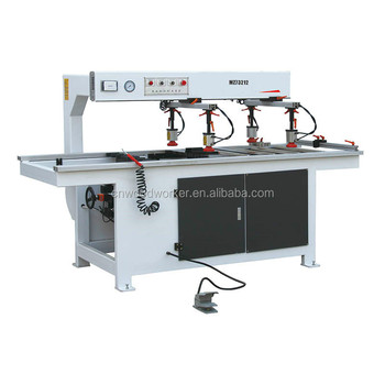 Woodworking double line multiple-drilling machine