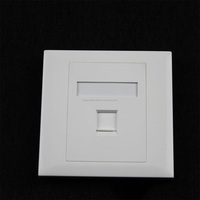 Factory Price RJ45 Single Port Faceplate 86 Type Network Information Wall Plate Made In China