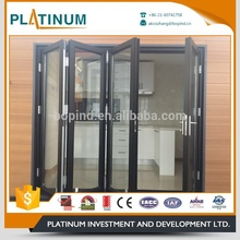 Luxury tempered safety glass bi-folding door