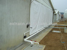 Curtain system for automatic poultry house