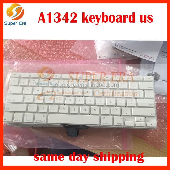 good quality for macbook 13'' A1342 us keyboard clavier without backlight perfect testing 2009 2010year