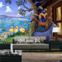 funny animals photo wallpaper murals for nursery school decor
