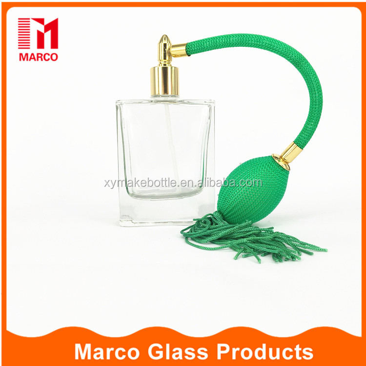 50ml square oil perfume glass bottles with gasbag