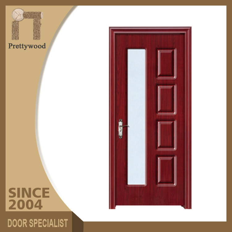 Fancy Interior American Panel Frosted Bathroom Solid PVC Doors