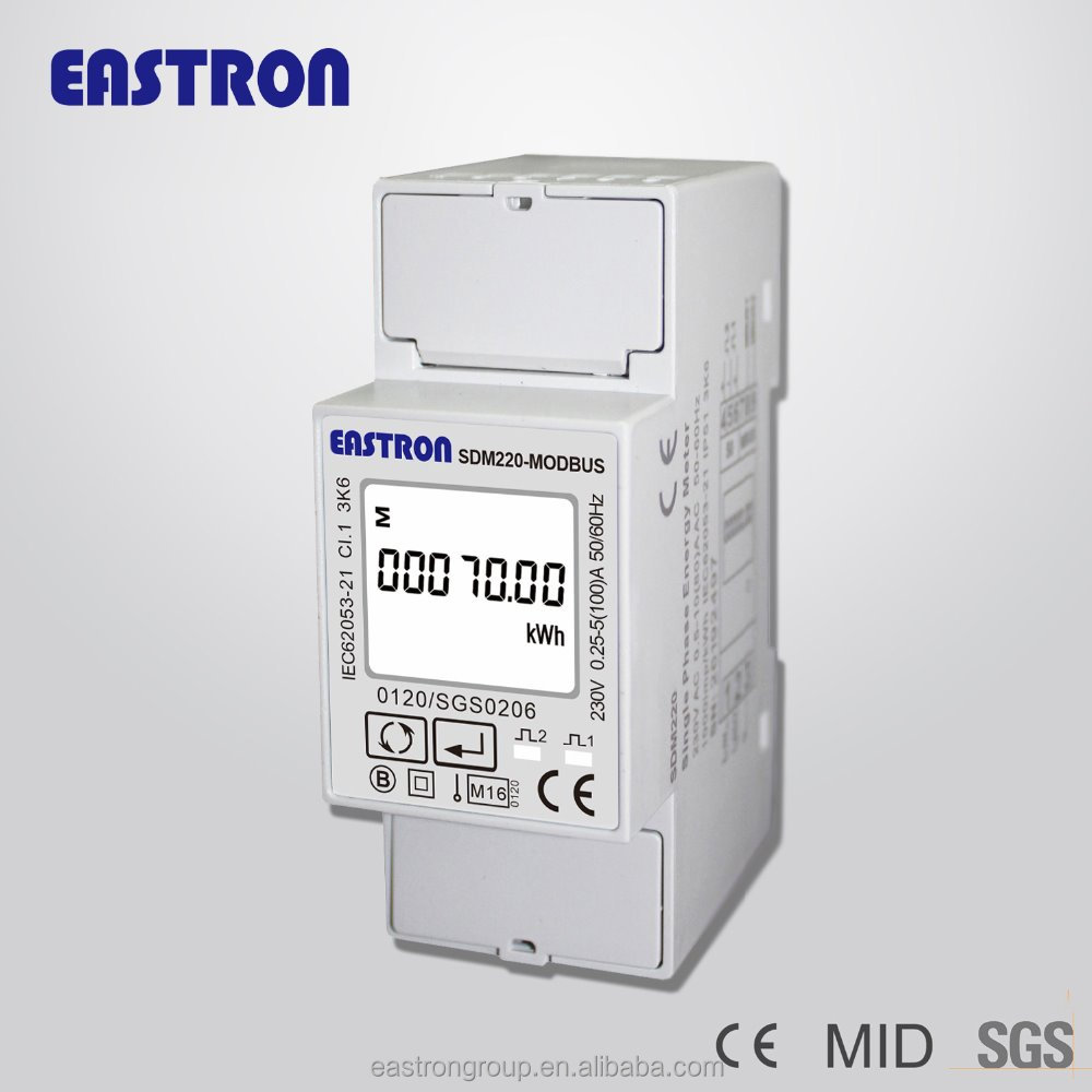 SDM220-Modbus Single phase electric kilowatt hour meter , home energy meter, smart power meter CE MID approved