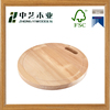 wholesale vegetable handmade cheap round shape wooden cutting board