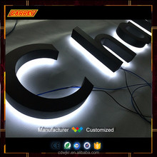 Led lighted store signs board for business logo letters