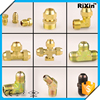 RX - 1190 new arrive flare short nut brass sae flare elbow union brass flare fitting elbow