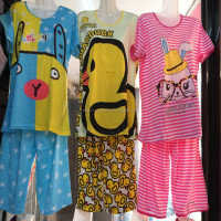 1.5USD Adults Plus Size Good Quality Wholesale Sleepwear In Nightgowns/Pyjamas /Cartoon Pajamas Women (kckttz023)