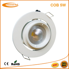 90mm cutout size dimmable led downlight 5w Gimbal 400-425lm