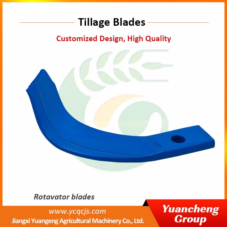 Cheap agriculture rotary tiller blades parts with CE Approved cultivator blades