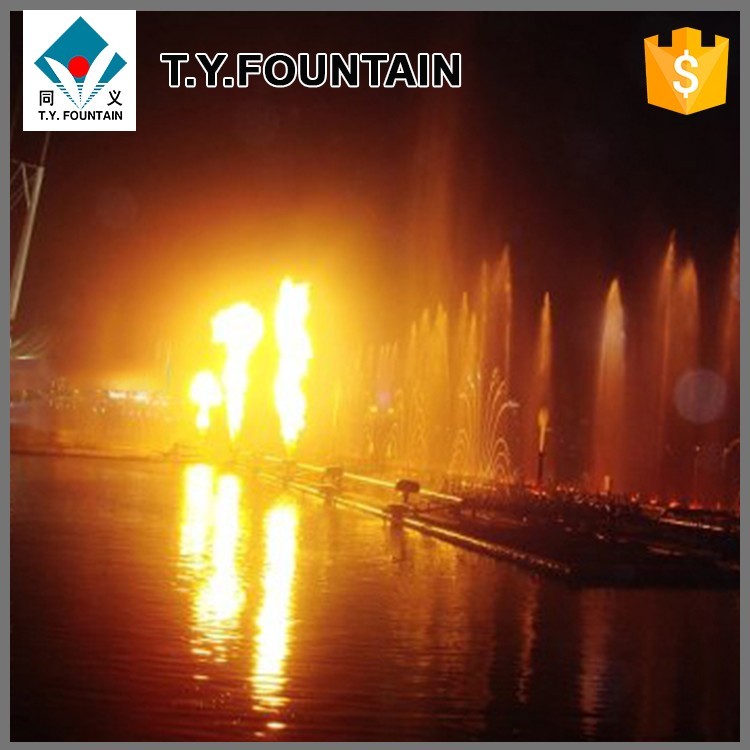 Fire shooting fountain design