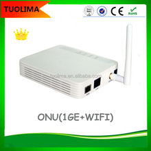 GPON Fiber ONU ONT 2GE with POTS work with HUAWEI ZTE OLT FTTX
