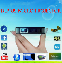 2016 Cheap DLP U9 projectors LED Portable support full HD 1080 micro projector