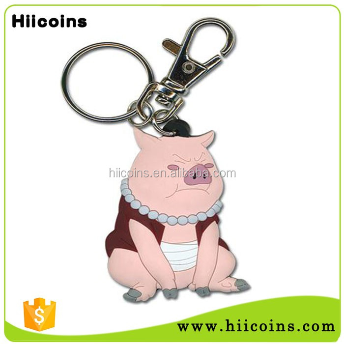 Wholesale Custom Cute Promotion Gift Piggy 2d/3d PVC Key Chain