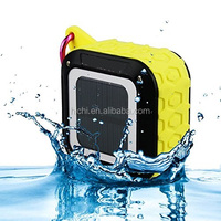 outdoor sports shape solar waterproof portable bluetooth speaker with key rings