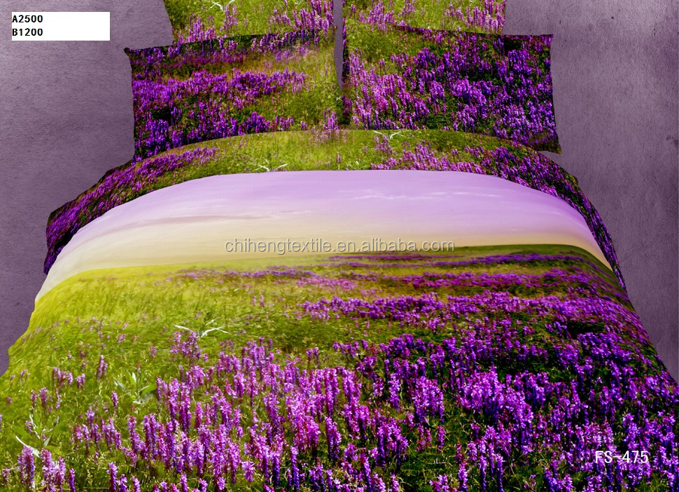 3D floral fitted sheet ,HD romantic bedding set, colorful floral bedding sets