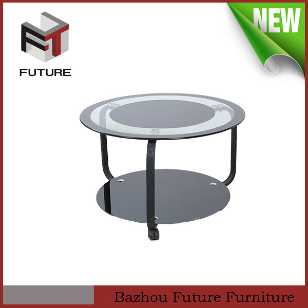 Modern glass end table from Guangzhou fair