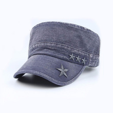 Custom made cheap fashion sports caps embroidered jeans military caps wholesale