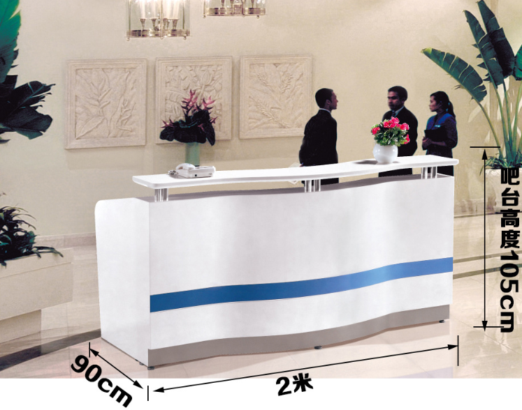 New Design Front Desk Reception Counter Fixtures for Agency's Reception with Low Price