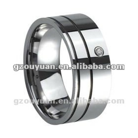 Promotional crazy price ring / 2012 hot sell Broade tungsten diamond ring