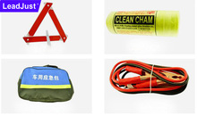Bag package 10pcs Car emergency kit Triangle warning signs First Aid Kit Rugged Tool Bag
