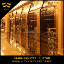 Golden custom stainless steel hotel wall panel,metal decorative panel