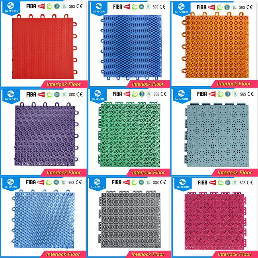 High quality 100% pp removable anti-slip sport mat tiles outdoor basketball court flooring