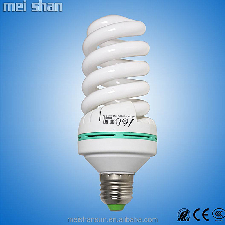 2.5T e27 9w glass full spiral energy saving light bulbs