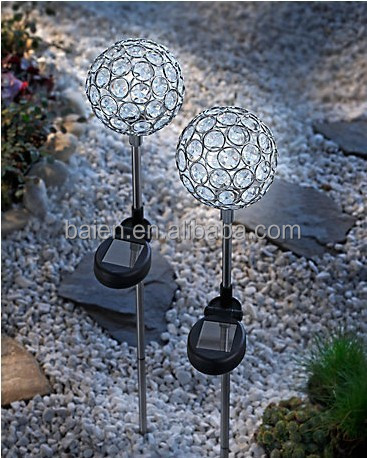 Solar power system Crystal Stake Ball Light for home or outdoor decoration