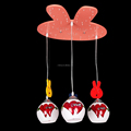 Modern fashion and contracted the bedroom of children room lamp droplight creative cartoon sweet chandelier lighting