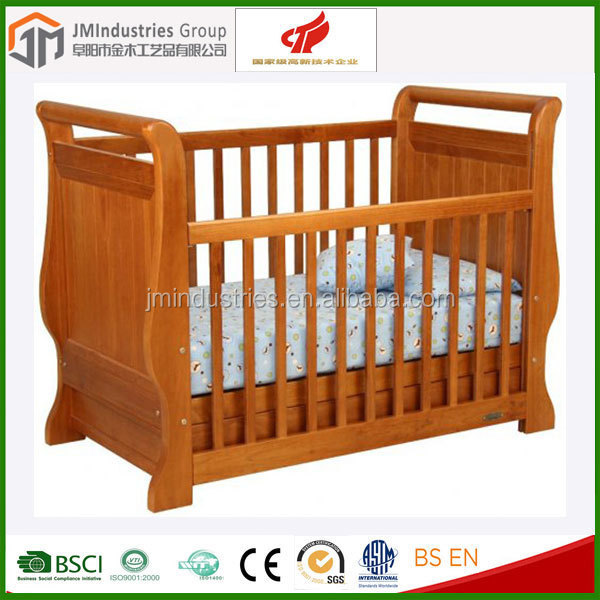 baby wooden bed swing baby crib multi-functional baby bed