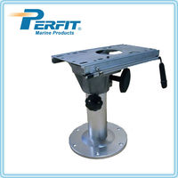 aluminum adjustable boat seat base with slider