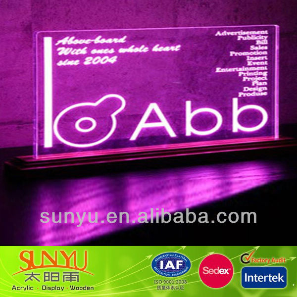 Attractive Countertop Acrylic LED Display Stand