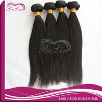 New Arrival High Quality Unprocessed 6A Natural Color 14 inch Straight Virgin Peruvian Hair