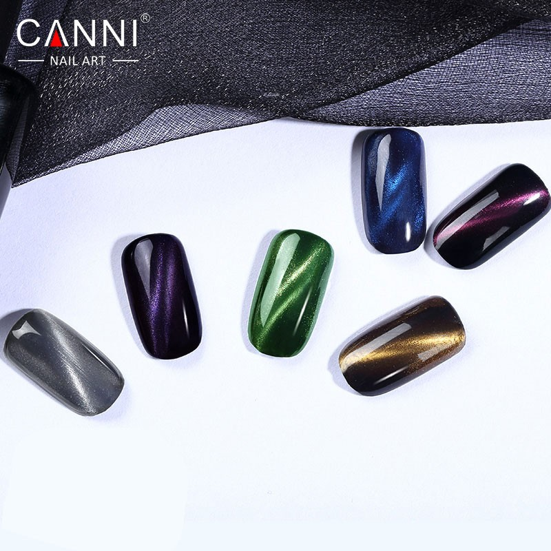 CANNI Cat Eye Topcoat 2017 New Arrival 61509 Nail Art Salon Recommended 6 Colors Magic Mirror Magentic Gel Nail Polish Top Coat