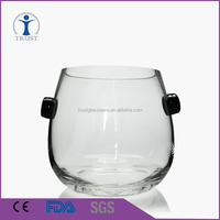 2016 Hot selling clear big Hand blown glass ice bucket