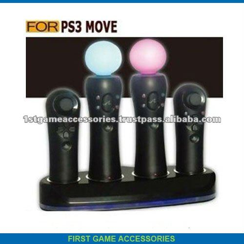 For Sony PS3 Move Controller Charger Stand Pack 4 in 1