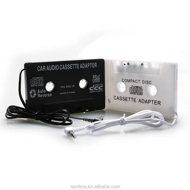 Black Aux 3.5mm Car Audio Cassette Tape Adapter Transmitters for iPod for iPhone MP3 CD DVD
