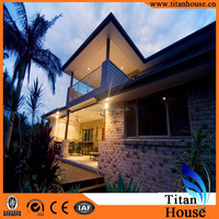 Tropical Style Tourism Villa in Light Steel Gauge Prefabricated Residential House