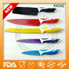 Hot sell in European and Americam market non-stick knife with colourful blade KK042